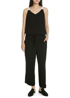 Eileen Fisher Drawstring Silk Jumpsuit