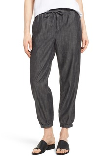 Eileen Fisher Drawstring Waist Chambray Pants (Regular & Petite)