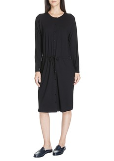 Eileen Fisher Drawstring Waist Dress (Regular & Plus Size)