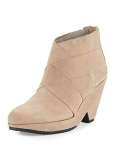 Eileen Fisher Dream Leather Wedge Bootie