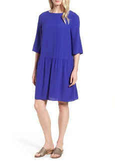 Eileen Fisher Drop Waist Silk Dress