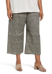 Eileen Fisher Droplet Print Organic Cotton Crop Pants (Plus Size)