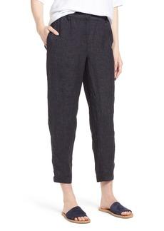Eileen Fisher Easy Ankle Organic Linen Pants (Regular & Petite)
