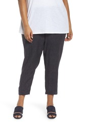 Eileen Fisher Easy Linen Ankle Pants (Plus Size)