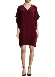 Eileen Fisher Easy Velvet Kimono-Sleeve Dress