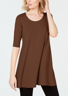 Eileen Fisher Stretch Jersey Elbow-Sleeve Tunic, Created for Macy's