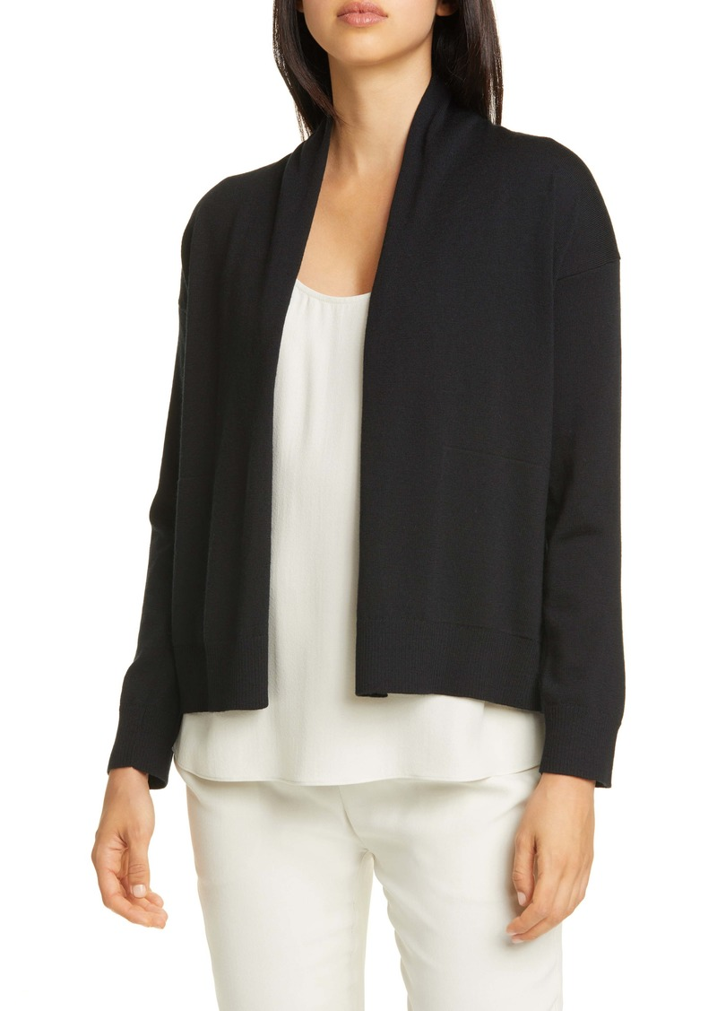 Eileen Fisher Extra Fine Merino Wool Cardigan (Regular & Petite)