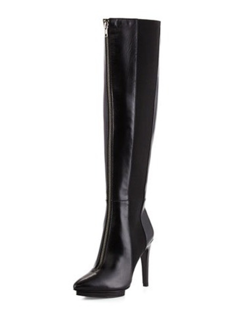 Eileen Fisher Faint Leather Zip-Front Boot