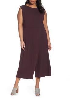 Eileen Fisher Faux Wrap Jumpsuit (Plus Size)