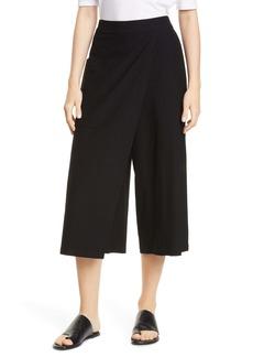 Eileen Fisher Faux Wrap Wide-Leg Crop Pants