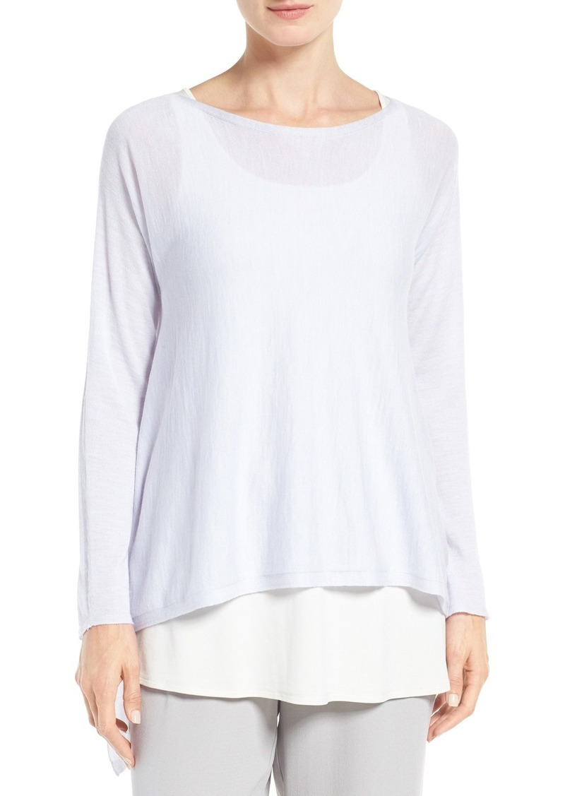 4b0ef76557eb Eileen Fisher Featherweight Seamless Merino Wool Sweater (Regular & Petite)