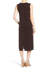 Eileen Fisher Fine Gauge Luxe Wool Round Neck Midi Dress