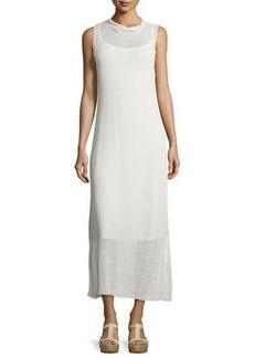 Eileen Fisher Fisher Project Funnel-Neck Semisheer Midi Dress