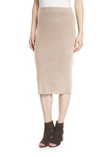 Eileen Fisher Fisher Project Luxe Wool Ribbed-Knit Pencil Skirt
