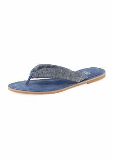 Eileen Fisher Flue Flat Chambray Thong Sandal