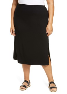 Eileen Fisher Fluid Jersey A-Line Skirt (Plus Size)