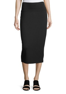 Eileen Fisher Fold-Over Knee-Length Pencil Skirt