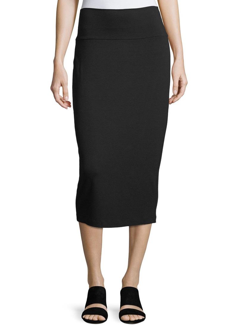 45fcdb292 Eileen Fisher Fold-Over Knee-Length Pencil Skirt