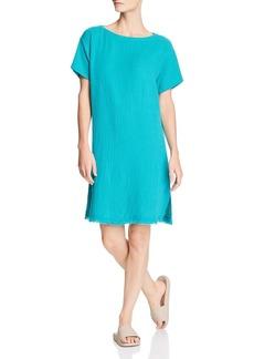 Eileen Fisher Frayed-Hem Organic Cotton Dress