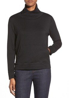 Eileen Fisher Funnel Neck Boxy Fleece Top (Regular & Petite)