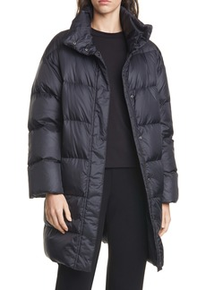 Eileen Fisher Funnel Neck Down Coat (Regular & Petite)