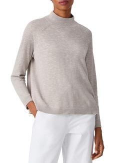 Eileen Fisher Funnel Neck Linen & Cotton Sweater