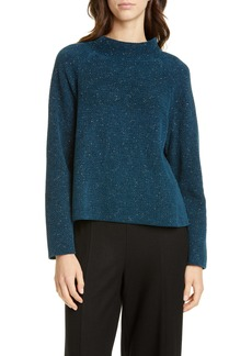 Eileen Fisher Funnel Neck Organic Cotton Sweater (Regular & Petite)