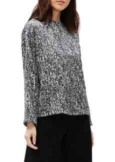 Eileen Fisher Funnel Neck Silk & Cotton Top