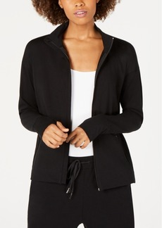 Eileen Fisher Cotton Funnel-Neck Zip Jacket