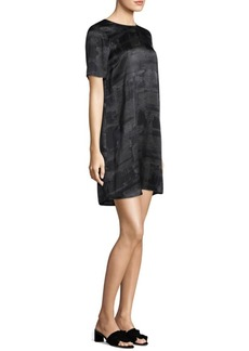Eileen Fisher Gaia Printed Silk Shift Dress