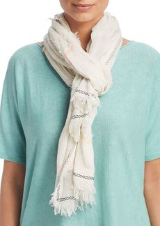 Eileen Fisher Geometric Embroidered Scarf