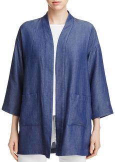 Eileen Fisher Grid Knit Open Front Jacket