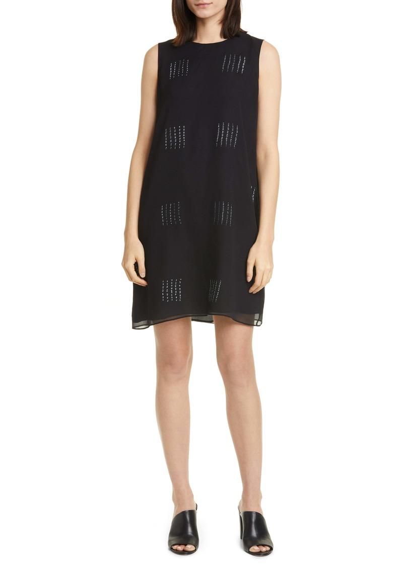 Eileen Fisher Hand Dyed Silk Shift Dress