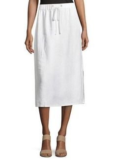 Eileen Fisher Heavy Organic Linen Midi Skirt