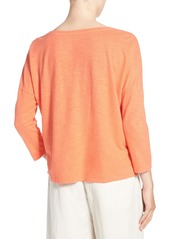 Eileen Fisher Hemp & Organic Cotton Bateau Neck Top (Regular & Petite)