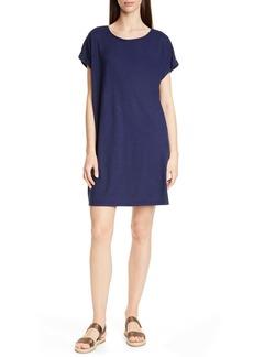 Eileen Fisher Hemp & Organic Cotton Knit Shift Dress