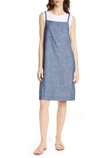 Eileen Fisher Hemp & Organic Cotton Pinafore Dress
