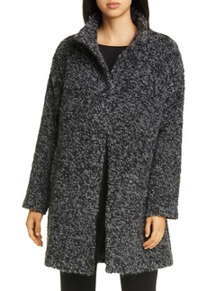 Eileen Fisher High Collar Alpaca & Wool Blend Coat
