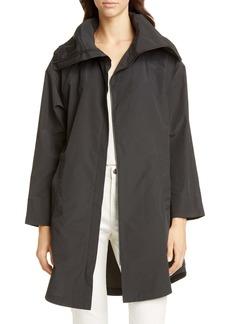 Eileen Fisher High Collar Cotton Blend Coat (Regular & Petite)