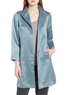 Eileen Fisher High Collar Long Jacket (Regular & Petite)