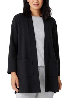 Eileen Fisher High Collar Open Front Jacket