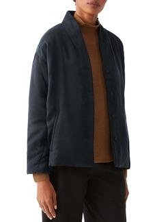 Eileen Fisher High Collar Padded Coat