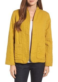 Eileen Fisher High Collar Quilted Jacket (Regular & Petite)