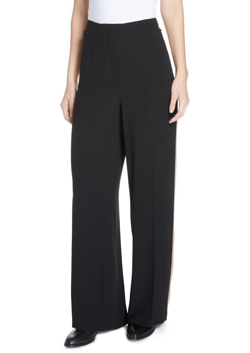 e0f6b55ef9171c Eileen Fisher High Waist Side Stripe Silk Crepe Pants (Regular & Petite)