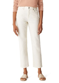 Eileen Fisher High Waist Straight Leg Ankle Jeans