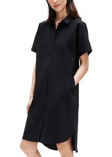 Eileen Fisher High/Low Organic Cotton Shirtdress