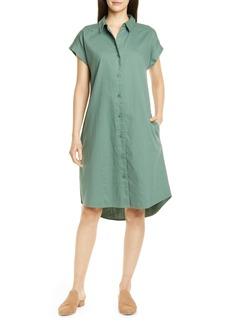 Eileen Fisher High/Low Organic Cotton Shirtdress (Regular & Petite)
