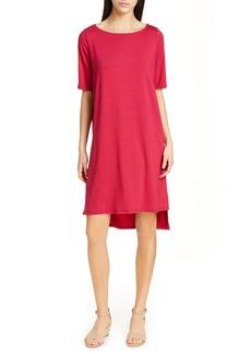 Eileen Fisher High/Low Shift Dress (Regular & Petite)