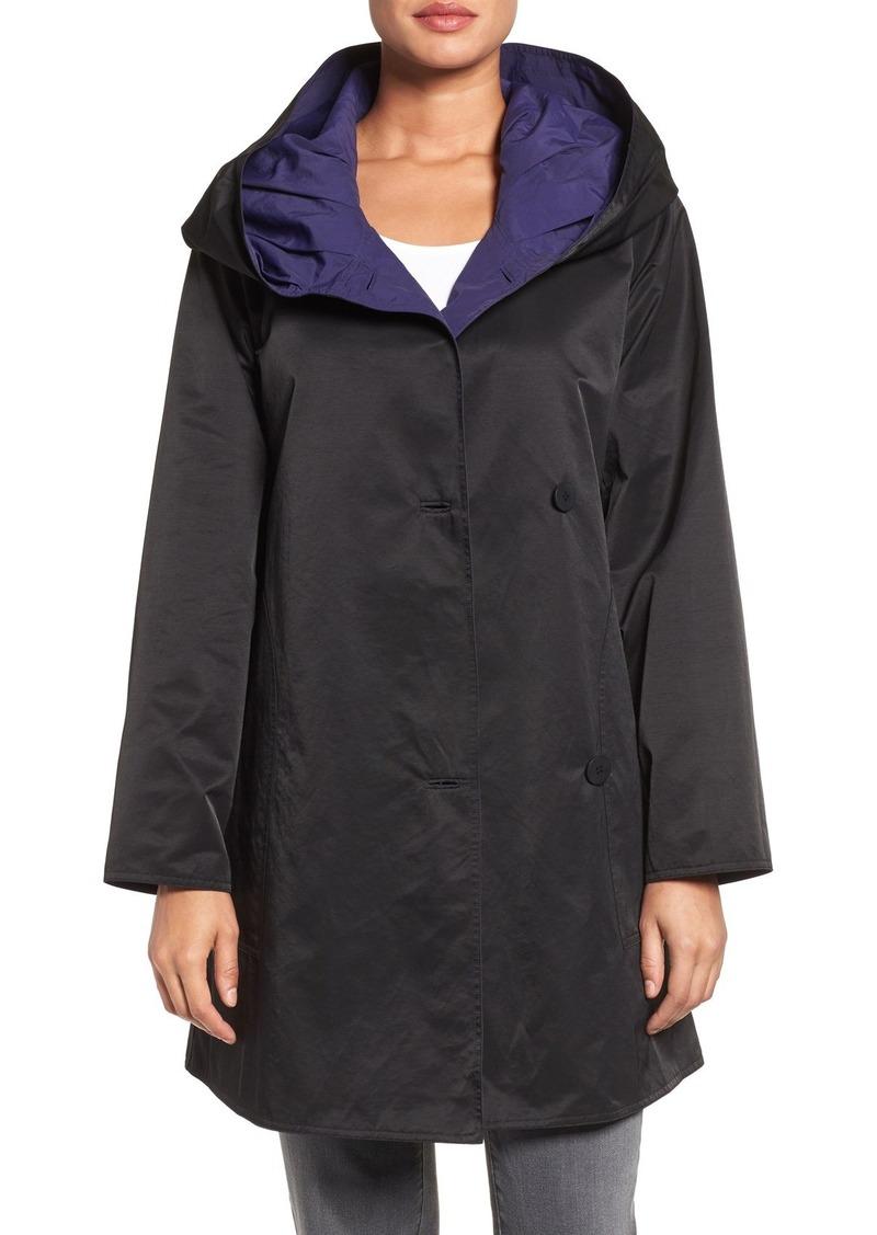 Eileen Fisher Hooded Asymmetrical Coat (Regular & Petite)