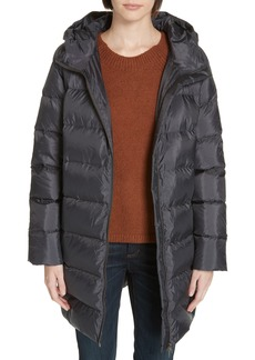 Eileen Fisher Hooded Down Cocoon Coat (Regular & Petite)
